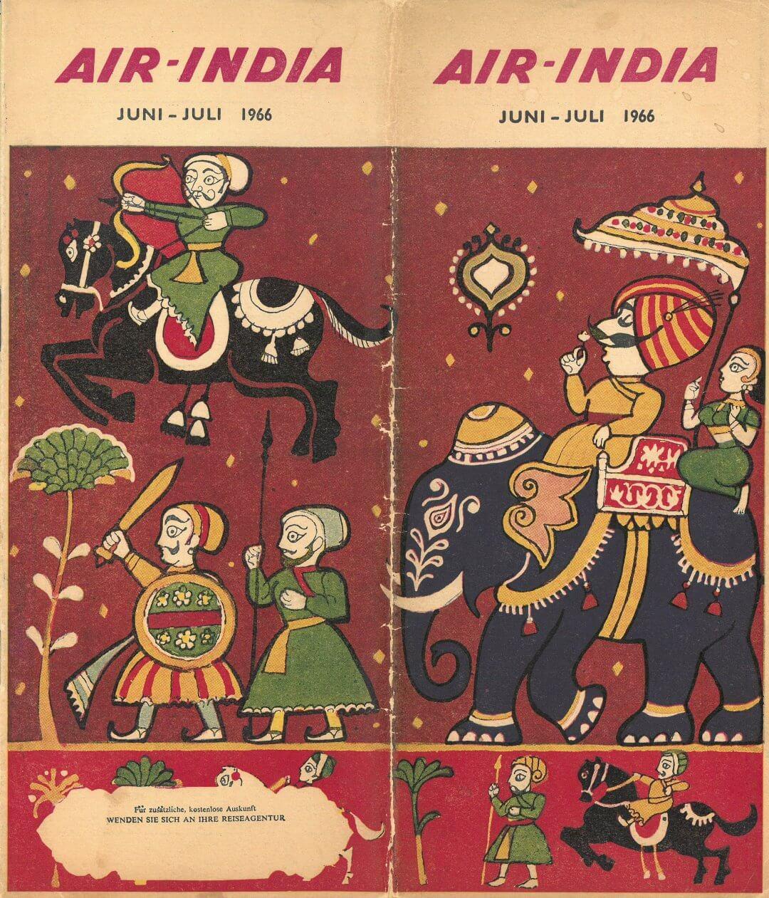 Air Inia 1966 Timetable