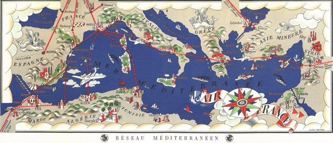 Air France Mediterranean Network Map