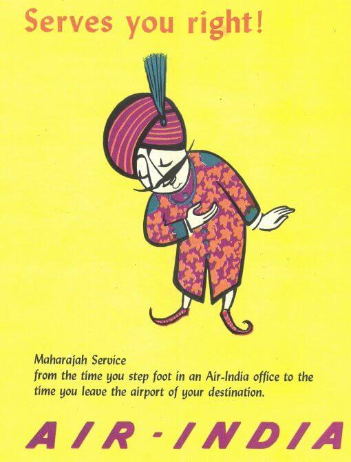 Maharajah Air India 1969
