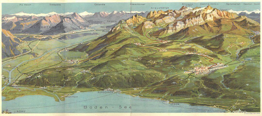Chemin de fer Saint-Gall Appenzell Map