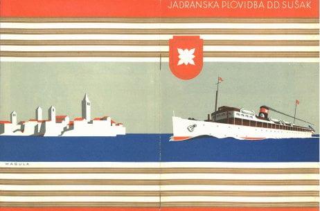 Croatian lines on the adriatic sea