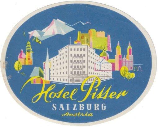 Hotel Pitter, Salzburg, Label