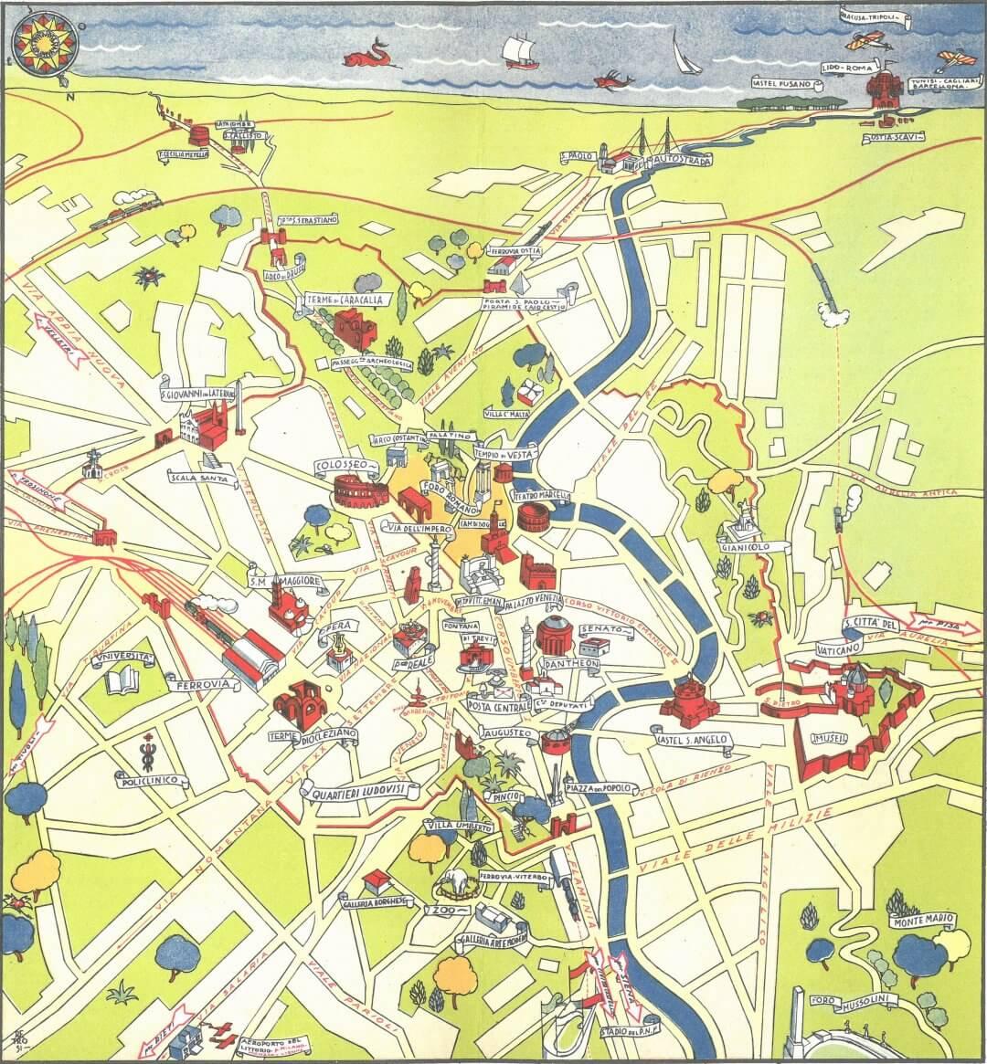 Touristic Map of Rome