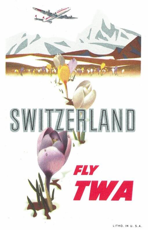 Fly TWA to Switzerland