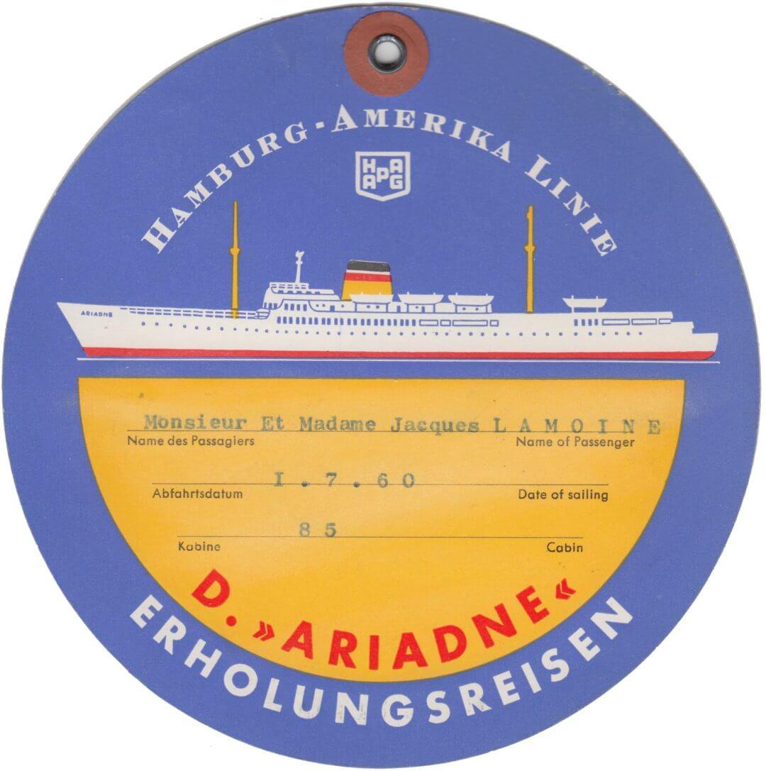 Hamburg Amerika Linie - D. Ariadne