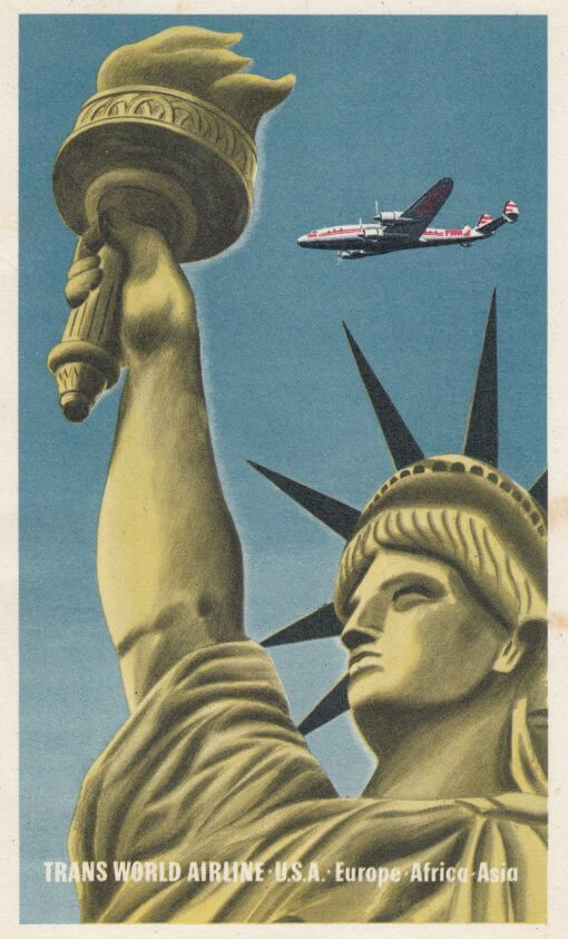 TWA USA Europe Africa Asia